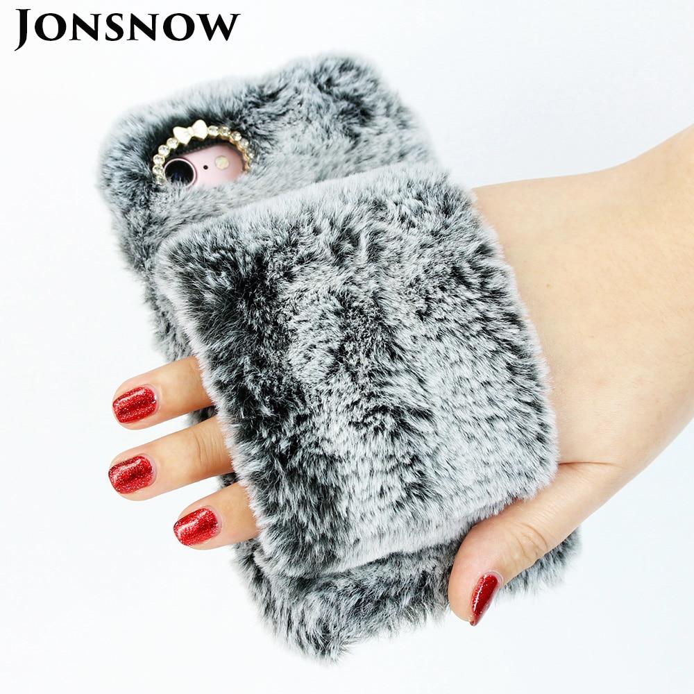 Plüsch Hand Wärmer Weichen Fall Für iPhone XS XR Telefon Abdeckung für iPhone 6 s 7 8 Plus XS Max behaarte Warme Winter Bling Strass Fällen