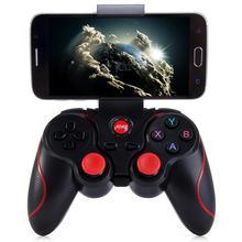 T3 bluetooth sem fio gamepad s600 stb s3vr jogo controlador joystick para android ios telefones celulares pc cabo usb manual do usuário