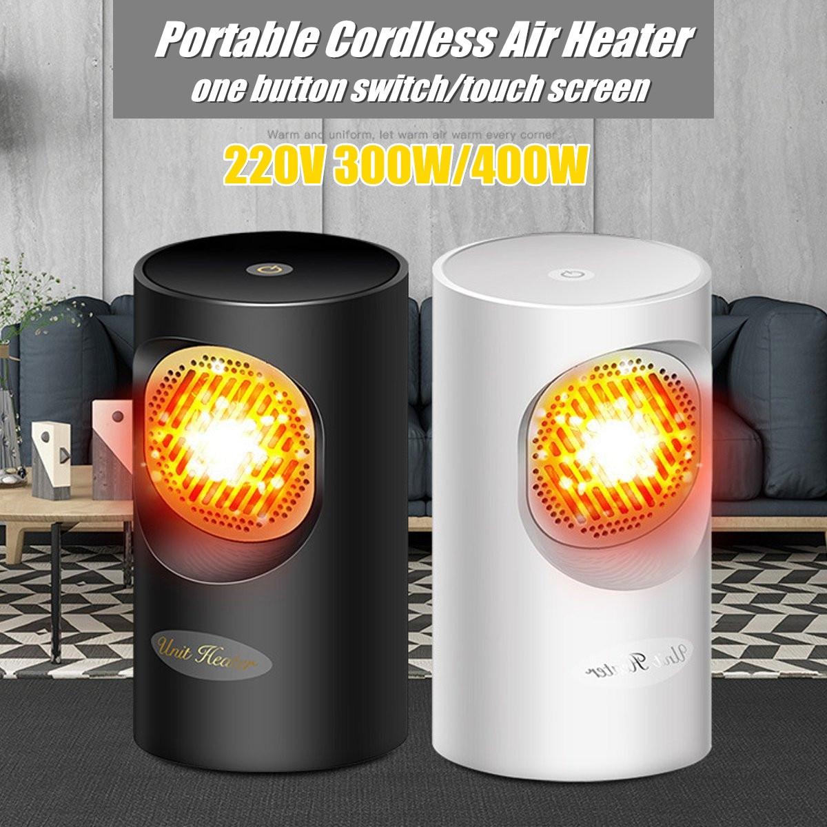 Riscaldamento Elettrico Ad Aria.220 V 300 400 W Senza Fili Portatile Riscaldatore Elettrico