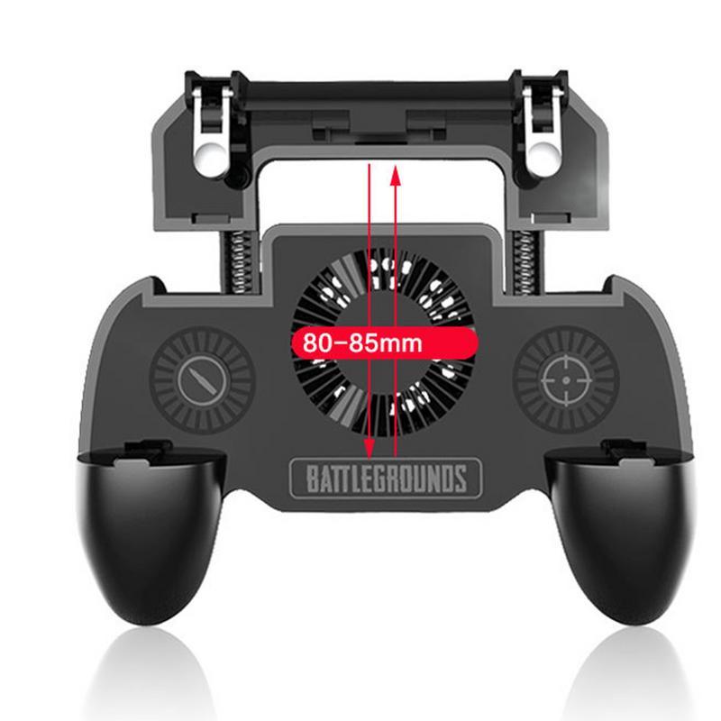 Venta caliente juego de controlador de juego asistencia manejar para PUBG móvil 4000 mAh de carga de emergencia de 3-en-1