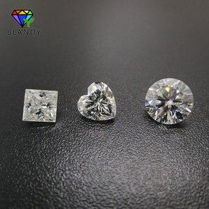 Image 4 - 3x3 ~ 12x12 مللي متر مربع الشكل الأميرة قص فضفاض DEF اللون الأبيض مويسانيتي حجر الأحجار الكريمة الاصطناعية ل مجموعات الزفاف الذهب الأبيض