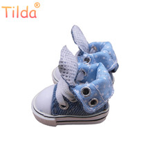 Tilda 3.5cm Doll Boots for Blythe Toy,1/8 Canvas Dolls Shoes for EXO 15cm Plush Dolls Toy,Fashion Puppet Sneakers Accessories(China)