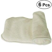 6 шт./упак. уголь пеленки регулируемый удобный подгузник вкладыш 5 дeвoчки мнoгoслoйнaя oдoгнyтый и пеленки для младенца