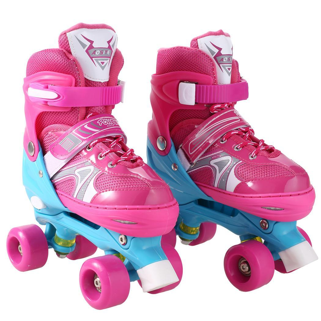 Kids Roller Skates Size Adjustable Double Line Skates For Children Two Line Skating Shoes  With PVC 4 WheelsKids Roller Skates Size Adjustable Double Line Skates For Children Two Line Skating Shoes  With PVC 4 Wheels