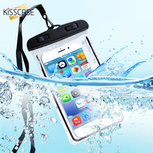 KISSCASE Luminous Waterproof Bag Underwater Pouch Phone Case For iPhone Samsung Huawei Xiaomi Cell Phone Universal All Model(China)