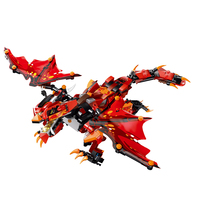 485PCS DIY Assembly 2.4G 4 Channels RC Dinosaur Toy Vehicle Storm Dragon Truck Electric Motor Toy For Children Dinosaur