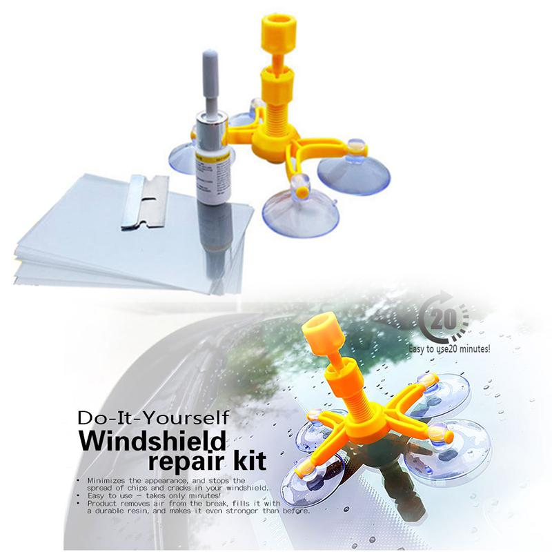 LanLan Windshield Repair Kits DIY Car Window Repair Tools Glass Scratch Windscreen Crack Restore Tool set