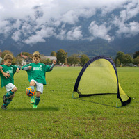 Pop Up Children'S Soccer Goal Folding Portable Sets Two Goals Durable Soccer Goal