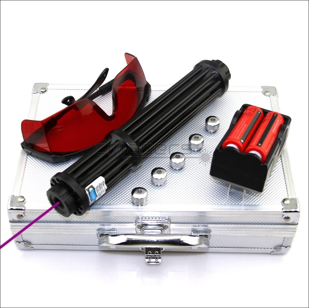 CNILasers VX3-II Adjustable Focus 405nm BURNING Blue Violet Laser Pointer Purple Lazer Pen Cigarette Lighter Camping Signal Lamp