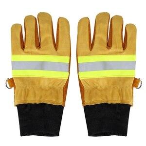 Image 4 - עבודה כפפות ריתוך כפפות אנטי קיטור בטיחות כפפות זוג של פרה עור כפפות חסין אש חום עמיד בטיחות כפפות עבודה