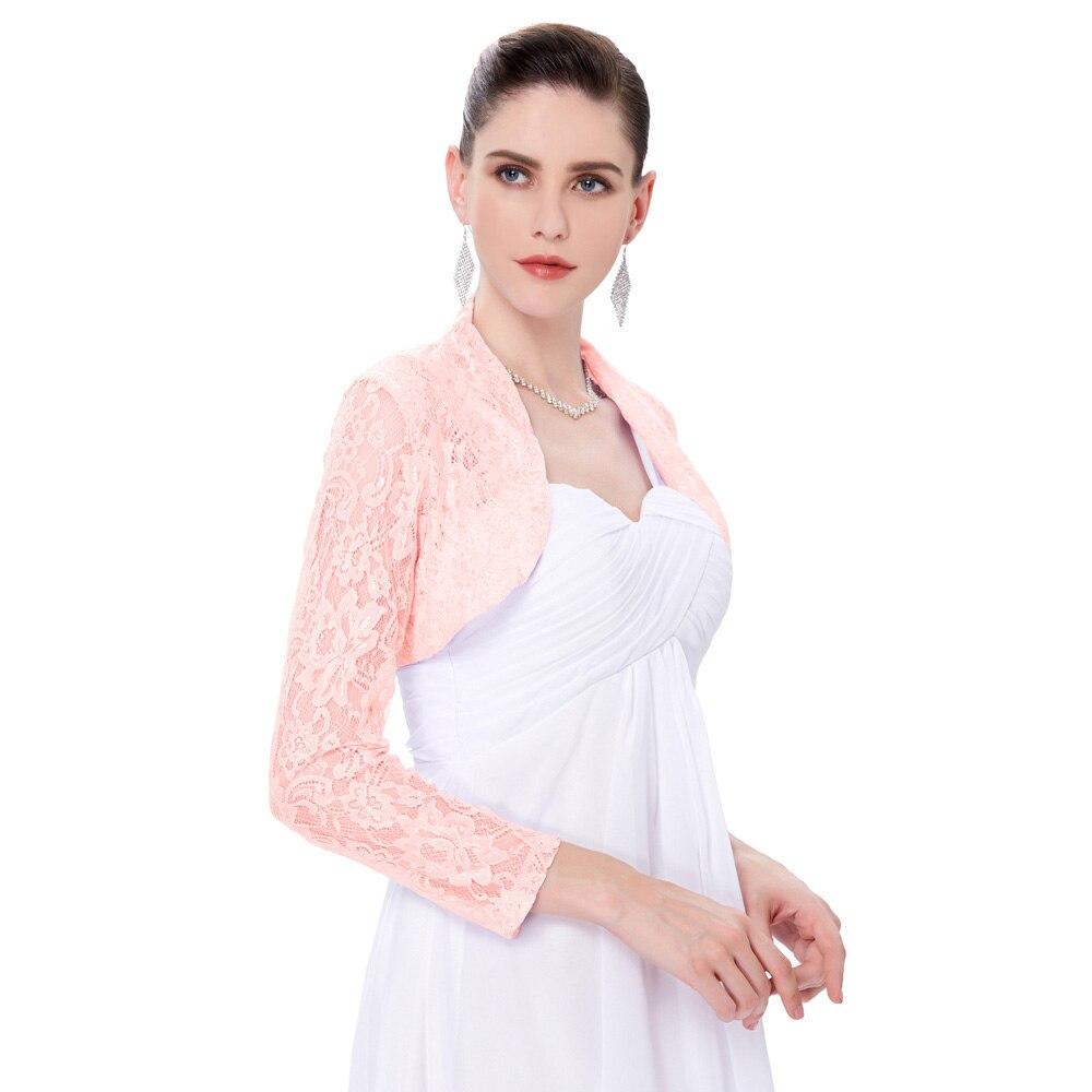 Fashion Women Coat Ladies Long Sleeve Cropped  Shrug Bolero Made Of Exquisite Lace Short Jacket Soft Lightweight Women Coat