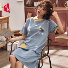 цены New Arrival Fashion Women Cotton Nightgowns Sleepshirts Summer Home Dress Sleepwear Loose Lounge Nightdress Indoor Clothing