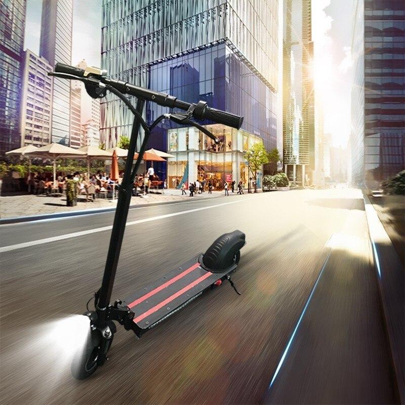 10 pouces vélo de voiture électrique à entraînement unique Mini planche à roulettes pliante adulte voyage scooter vélo e-bike