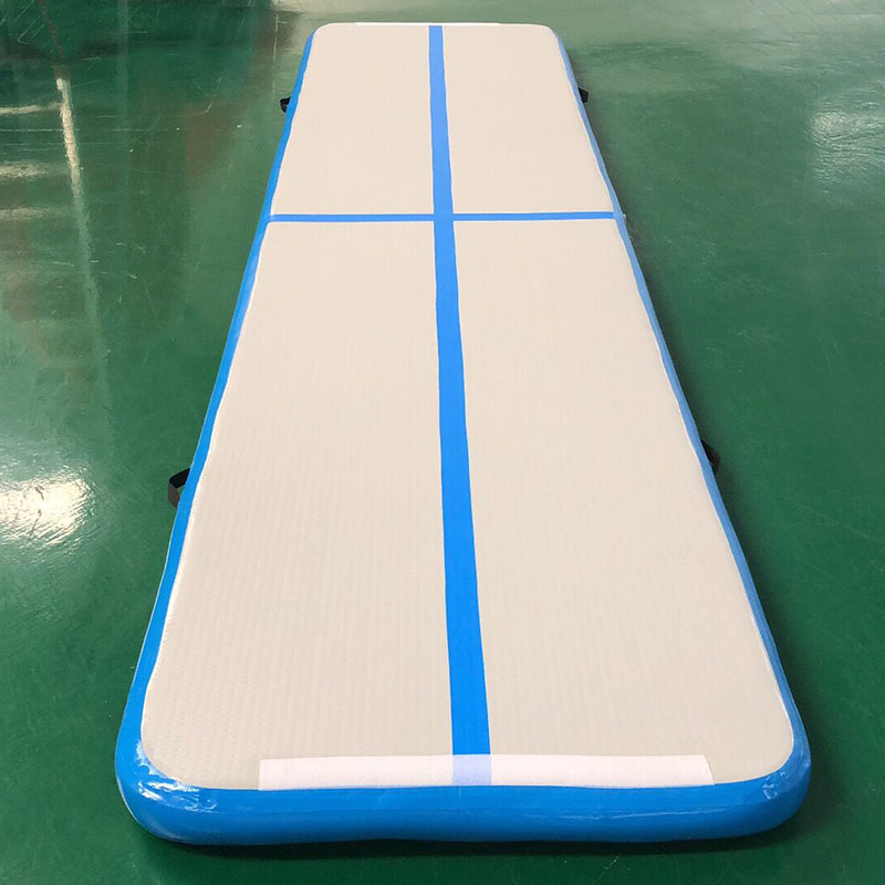 Tapis gonflable de gymnastique avec la pompe à main piste d'air dégringolant piste d'air plancher Trampoline pompe à Air électrique pour la maison/formation/plage