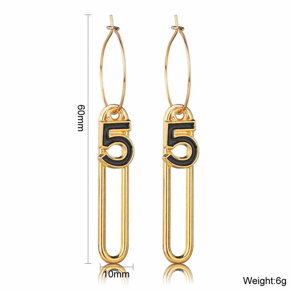 Indywidualność rysunek pięć kobiet upuść kolczyki Trendy wspaniała dekoracja dla kobiet rocznica spadek kolczyki biżuteria prezenty