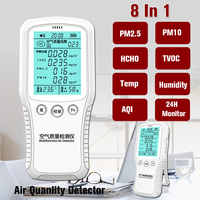 8 in1 Digital Formaldehyde Detector Monitor PM2.5 PM10 TVOC HCHO Gas Analyzer Air Quality Monitor for Household Car