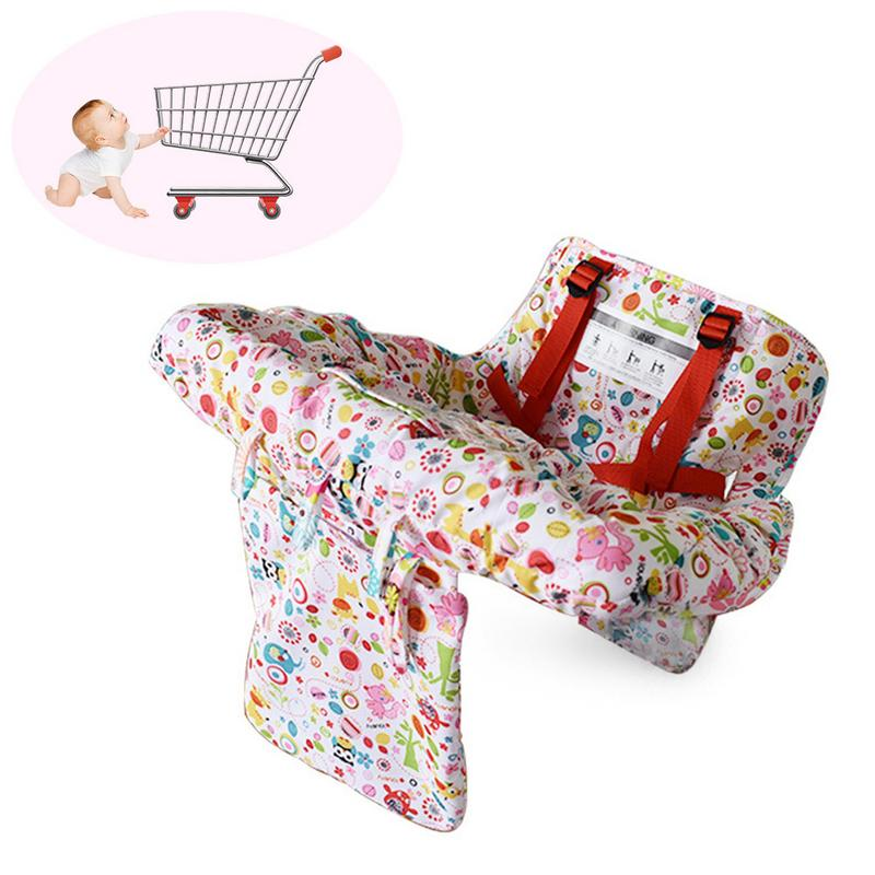 Multi-functional Baby Children Folding Shopping Cart Cover Baby Soft Warm Shoppi