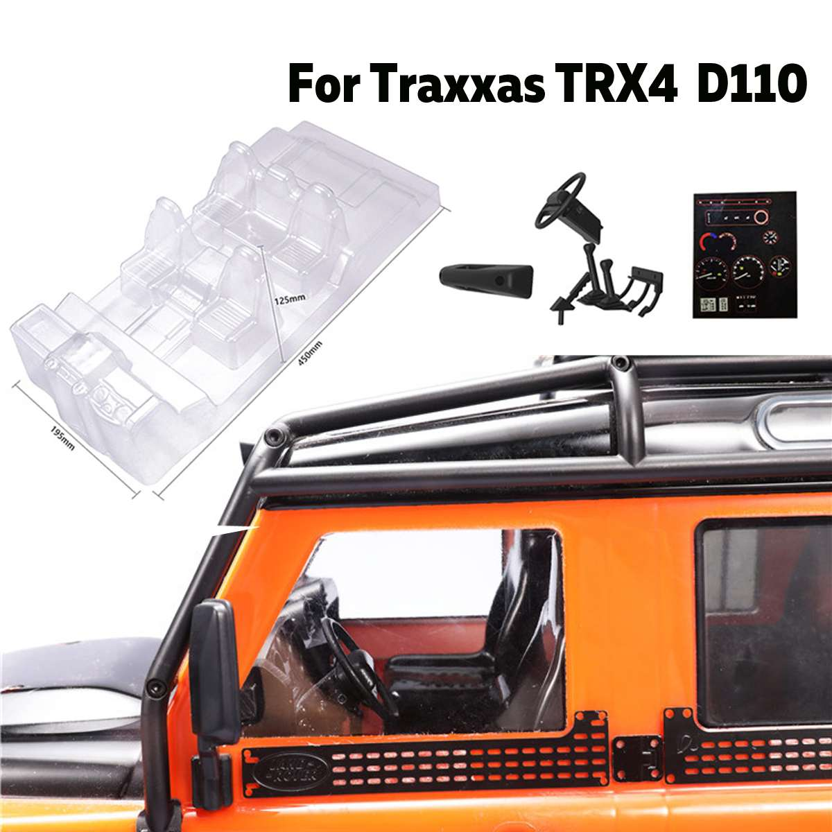 Simulation Interior Car Body Shell Decoration Car Cell RC Car Spare Parts for Traxxas TRX4 Defender D110 RCSimulation Interior Car Body Shell Decoration Car Cell RC Car Spare Parts for Traxxas TRX4 Defender D110 RC
