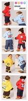 младенцы зима пальто дети в одежда одежда для младенцев мальчики комплект куртка утолщение комикс жираф