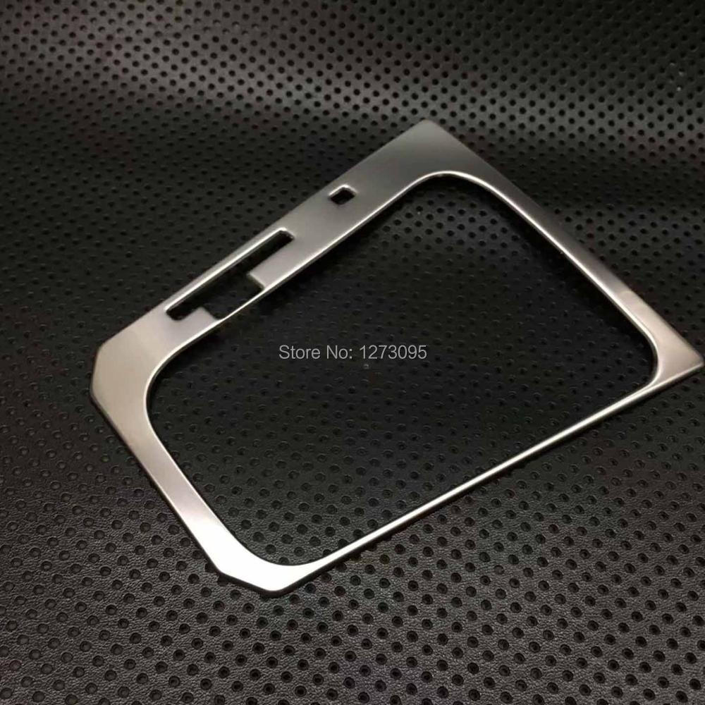 For Volkswagen Passat 2016 2017 2018 Stainless Steel Gear Shift Box Panel Trim Gear Shift Head Cover Fram Car Styling Accessory fram ph6355