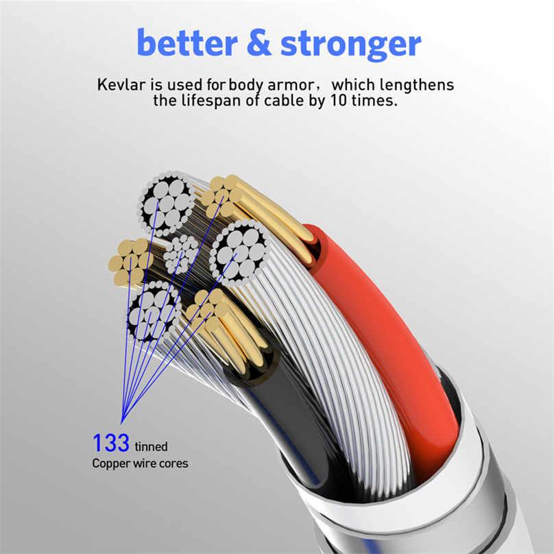 USLION كابل مغناطيسي LED نوع C المصغّر USB شحن ل فون XS ماكس المغناطيس شاحن USB C سلك ل سامسونج هواوي Xiaomi كابل