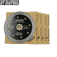 DT-DIATOOL 5 pcs Diameter 105mm Dry or wet Hot-pressed sintered Diamond Cutting Disc With Mesh Turbo Rim Segment 4inch Saw Blade
