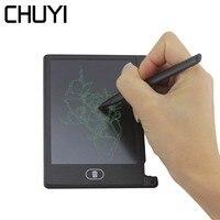 CHUYI 4,4 дюймов ЖК дисплей записи планшеты Мини цифровые электронные творческий блокнот ультра тонкий почерк Pad Memo чертёжные доски для детей