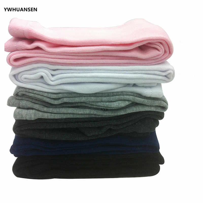 جوارب طويلة قطنية للفتيات الصغيرات لفصل الربيع والصيف من YWHUANSEN 2-10T للرقص محبوك دون خياطة جوارب طويلة مناسبة للخريف