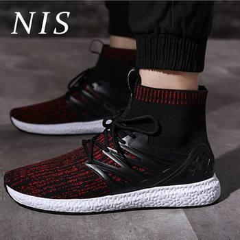 81a1e587 NIS Размеры Eur39-44 высокие носки Повседневная обувь мужские кроссовки  9908 обувь спортивная Для мужчин