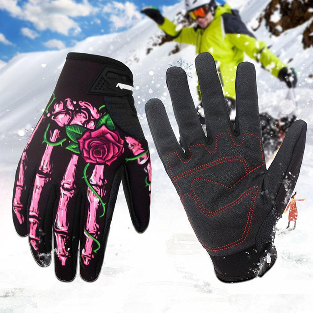 Mounchain Winter Full Finger Skiing Gloves Outdoor Sports Bicycle Windproof Waterproof Touch Screen Joints Warmer Skating Glove
