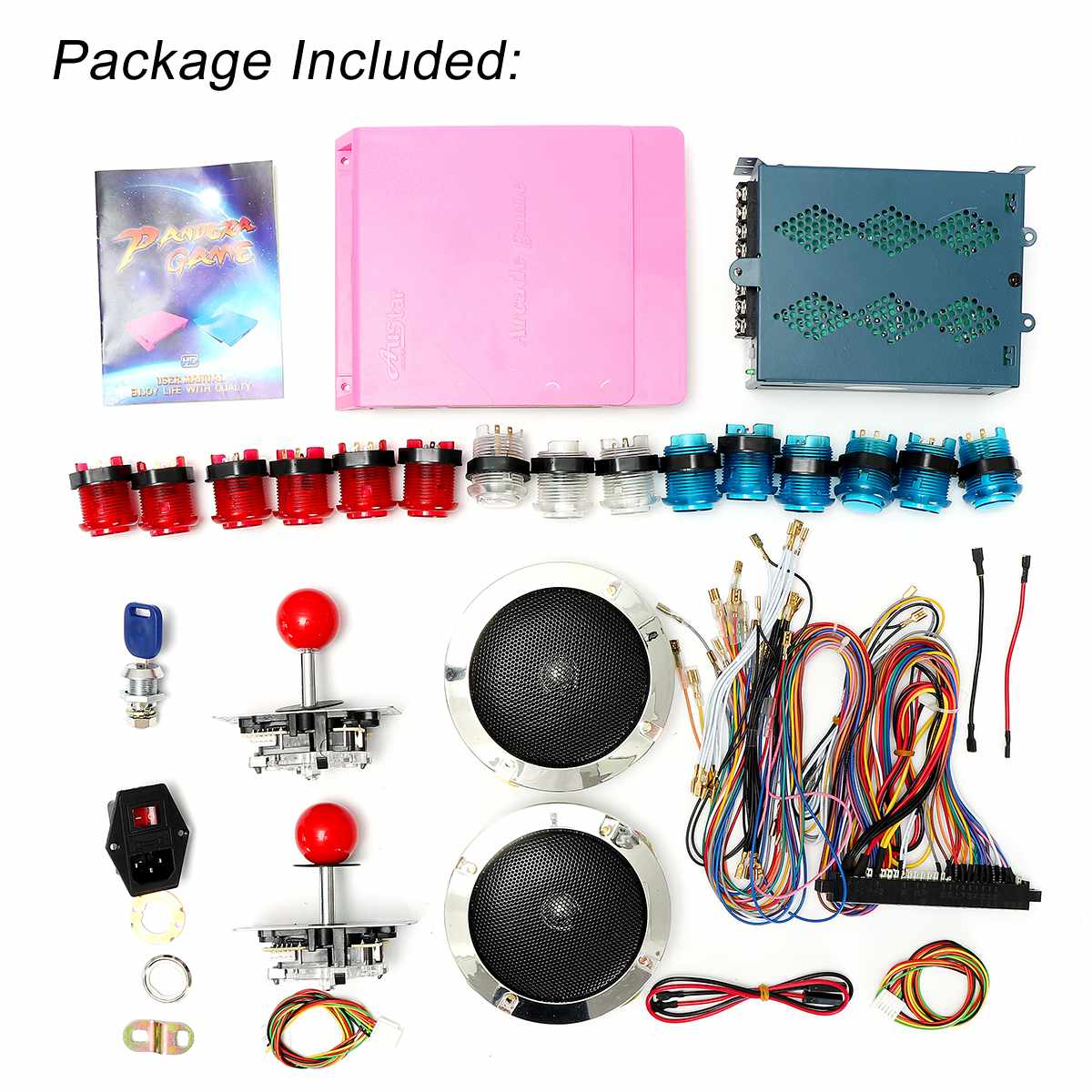 Box 5s 1299 in 1 Classic Box Arcade DIY Game Box Bundles kit With Jamma Harness Push Button Joystick and Lock Coin Operated GameBox 5s 1299 in 1 Classic Box Arcade DIY Game Box Bundles kit With Jamma Harness Push Button Joystick and Lock Coin Operated Game