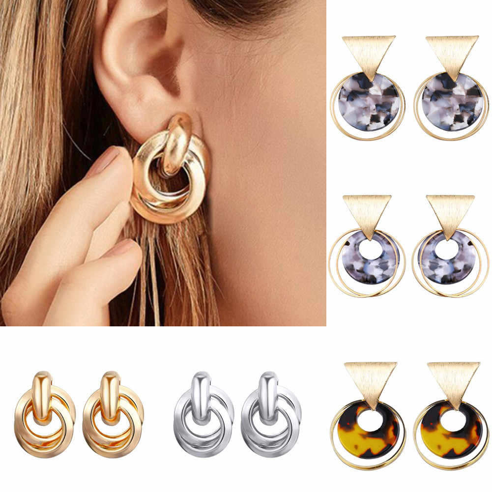 New Trendy Gold Twisted Small drop Earrings 2019  Metal Statement Earring Prisoner Classic Minimalist Beautiful Jewelry