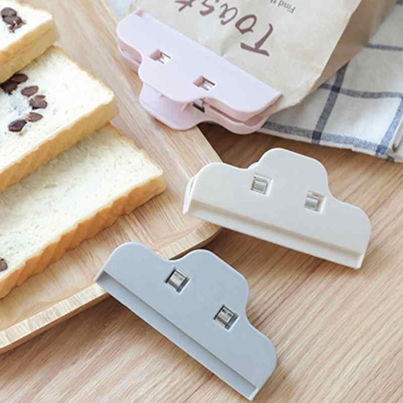 Portable Plastic Seal Clips Kitchen Snack Sealing Clamp Moistureproof Fresh Keeping Sealer Food Storage Bag Clip Kitchen Tools