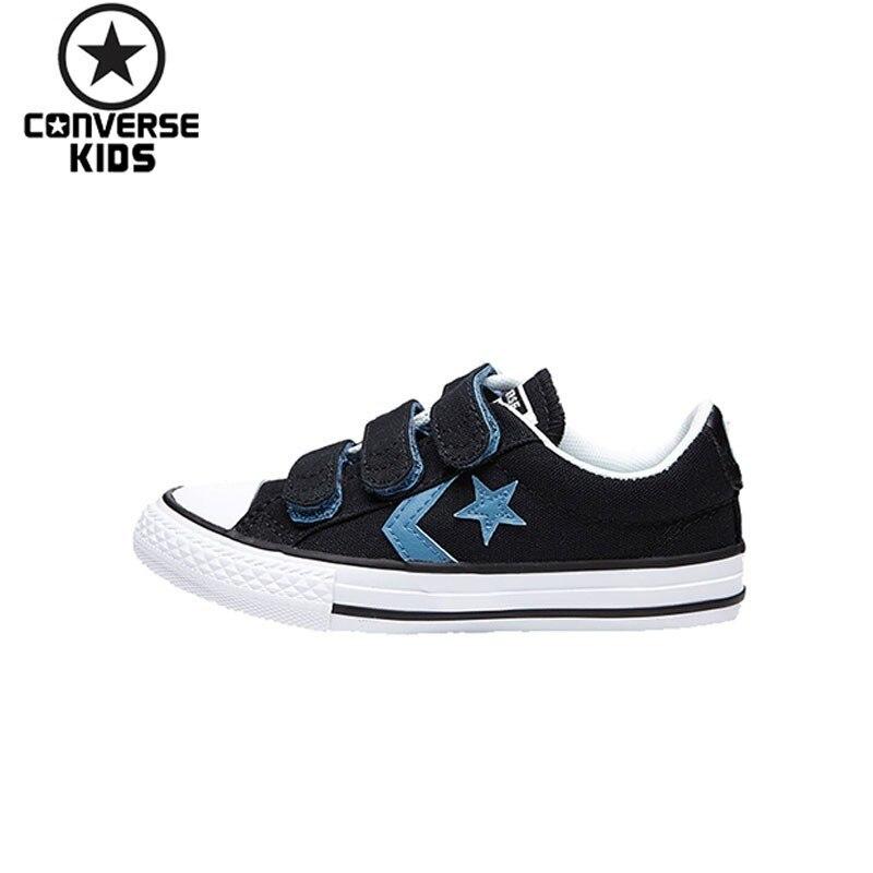 CONVERSE Child Shoes Black Star Low Magic Subsidies Canvas Shoes For Children #660743C-H converse kids shoes black star arrows low help magic subsidies canvas shoes 660743c h