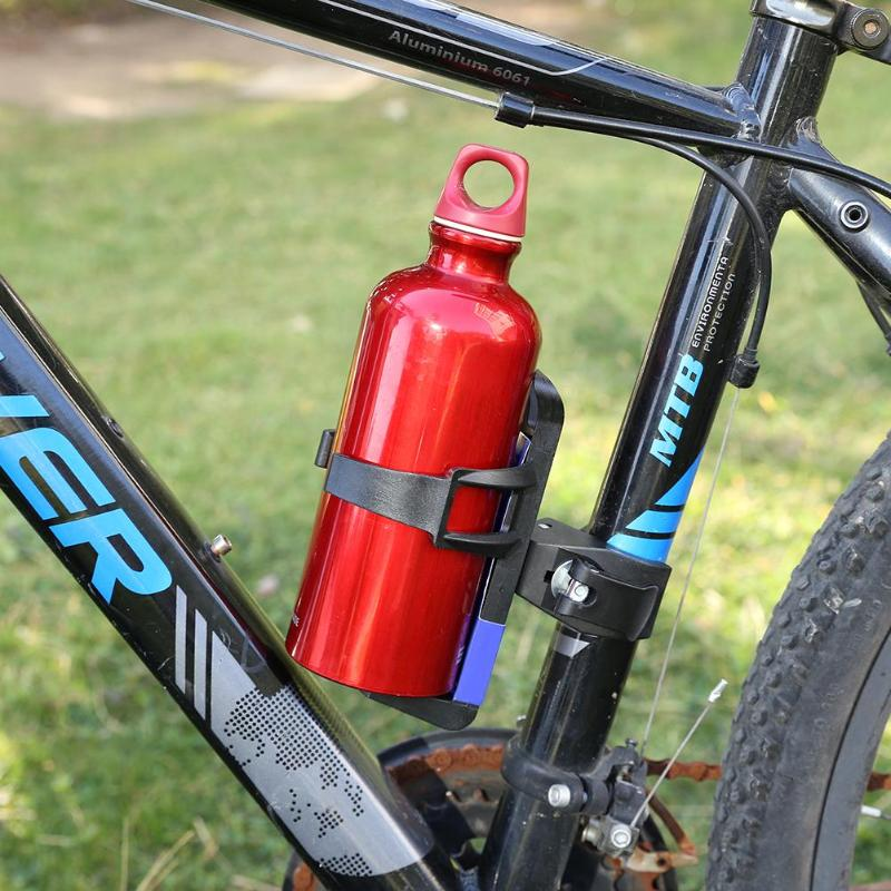 Black Bicycle Water Bottle Holder Adapter Kettle Frame Quick Release Switch LIN
