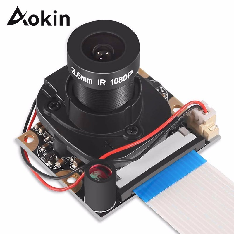 Aokin Para Raspberry Pi Módulo Da Câmera Automática Com Ir-cut Night Vision Câmera de 5mp Hd 1080p da Webcam Para 3 Raspberry Pi Modelo B