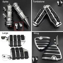 Tombstone Rear Foot Peg For Honda VTX 1300 1800 C R S N F All Models Passenger footpeg Rest pedal Billet Rubber Motorcycle