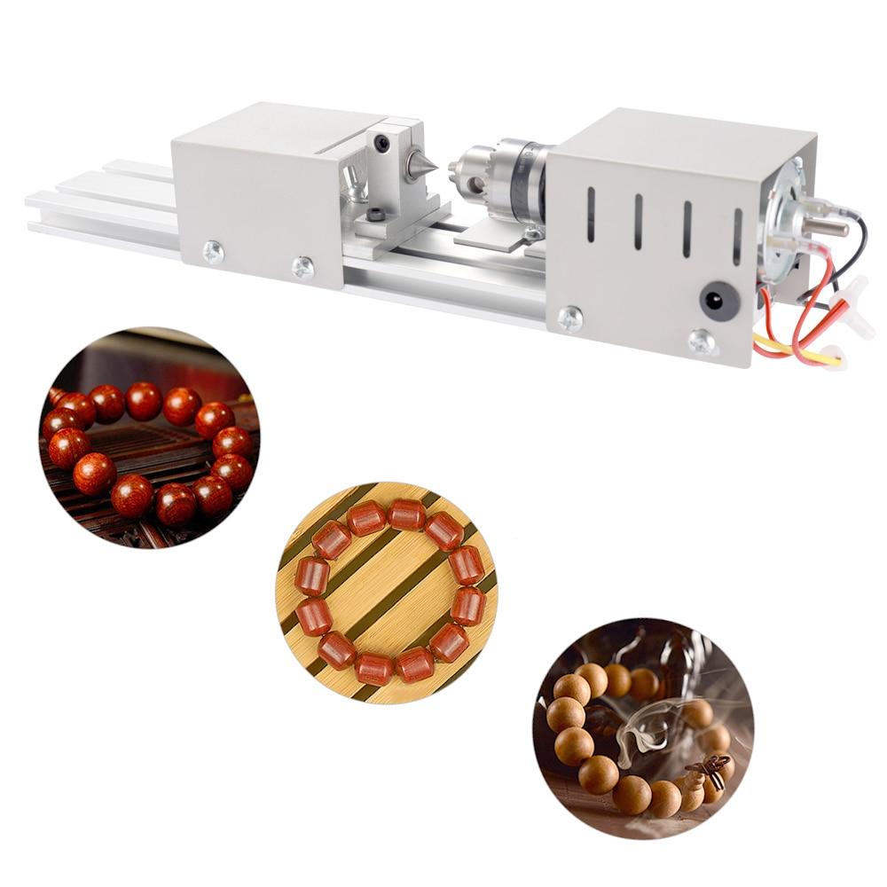 Mini Lathe Beads Polisher Machine 100W Woodworking DIY Craft Rotary Machine