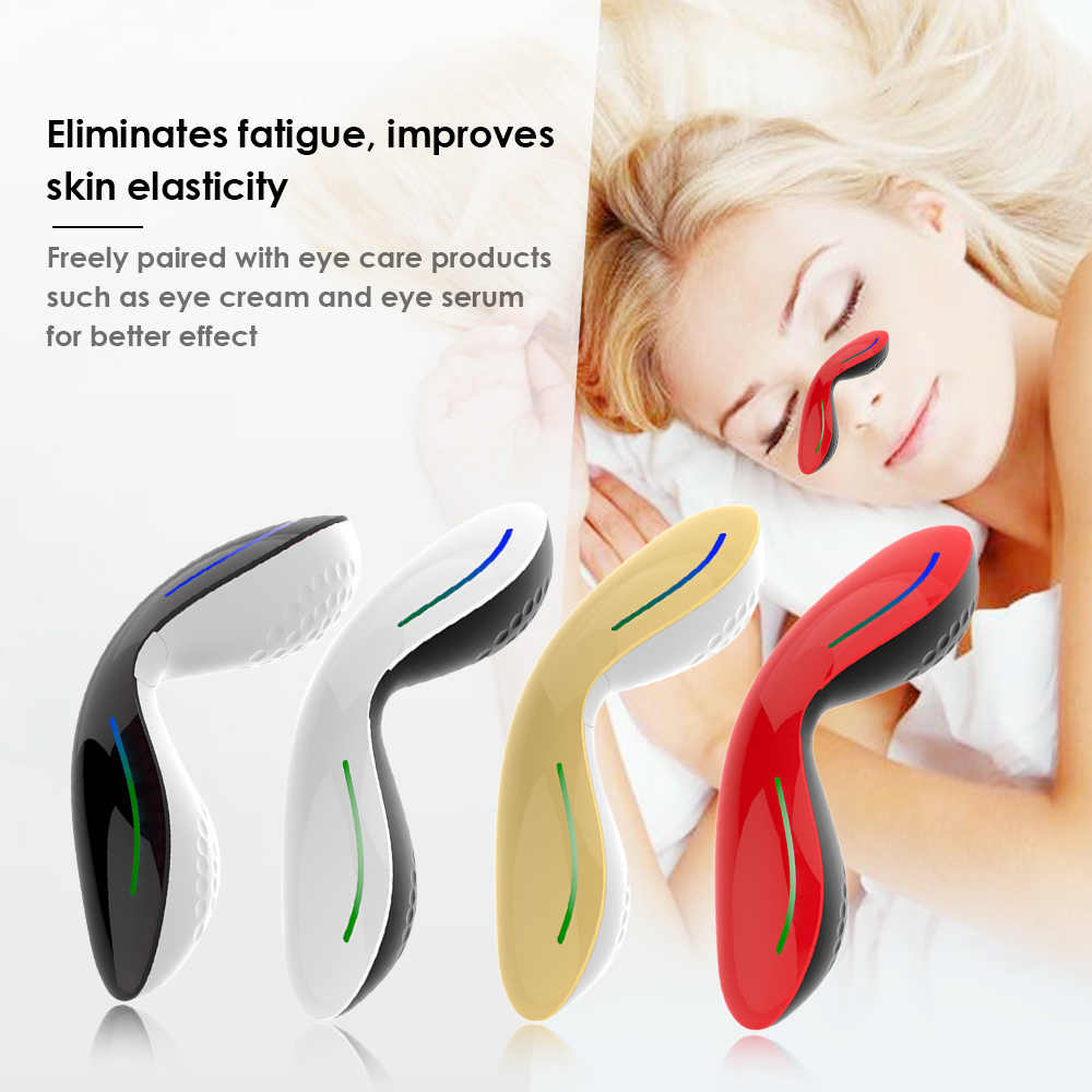 Portable Eye Massager Relieve Eye Care Dark Circles Puffiness Fine Lines Anti-Wrinkles USB Rechargeable Beauty Instrument