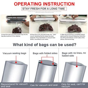 Image 5 - Domowe urządzenie do szczelnego pakowania żywności pakowarka z 10 sztuk torby Free 220V 110V automatyczna handlowa najlepszy próżni, zgrzewarka spożywcza Mini