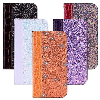 Leather Flip Phone Case For Huawei Mate 20/Mate 20 Pro/Mate 20 Lite/Mate 20 X Retro Glitter Crocodile Magnetic Leather Cover