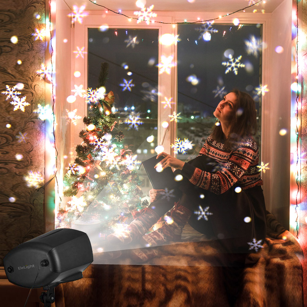 LED Snowfall Christmas Projector Light Big Moving Snowflake Xmas Laser Projector IP65 Waterproof Outdoor Landscape Lighting beiaid ip65 outdoor laser landscape light projection moving star christmas laser projector garden party disco dj led stage light