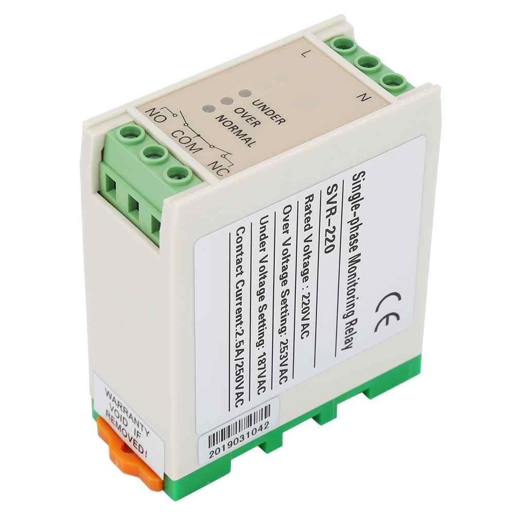 Relais de tension SVR-220 relais de surveillance de tension monophasé surtension protecteur de sous-tension 220VAC relais de verrouillage nouveau