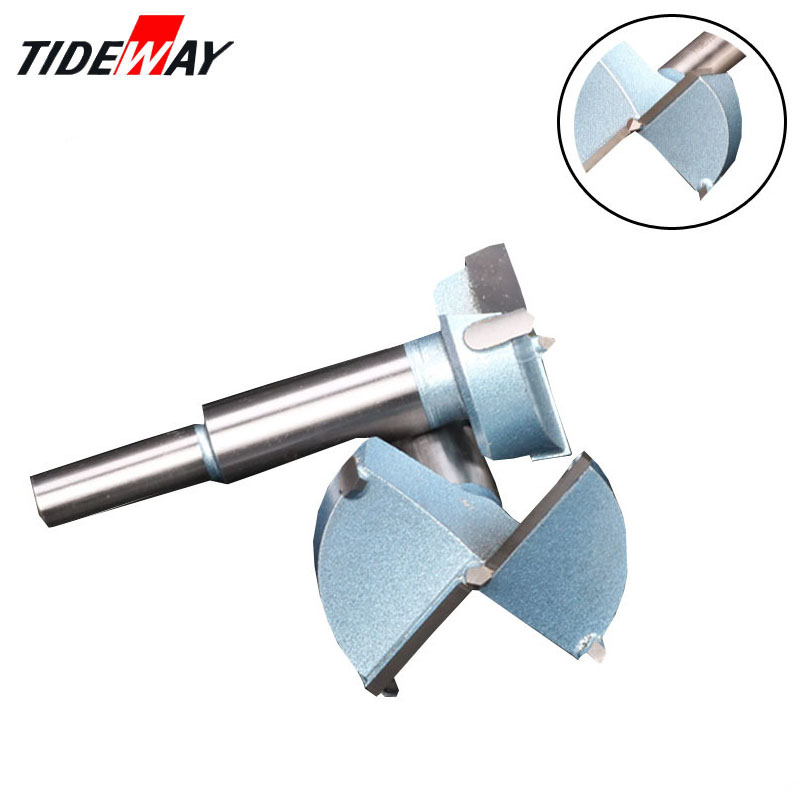 Tideway 12mm-65mm Forstner Bit Auger Drill Bits Set Wood Hole Saw Woodworking Wooden Cutter Drilling for Hinge Window