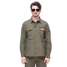 Мужские военные тактические рубашки с длинным рукавом для улицы, быстросохнущая дышащая футболка для кемпинга, тренировок, альпинизма, спорта, модные рубашки