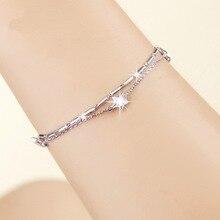 купить S925 Silver Diamond Bracelet Bileklik Bizuteria for Couple Jewelry Women Amethyst Kehribar Wholesale Gemstone Jewelry 2019 по цене 694.3 рублей