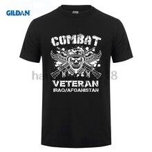 GILDAN 2018 Combat Veteran Iraq Afghanistan T Shirt Veterans Day Shirt цена