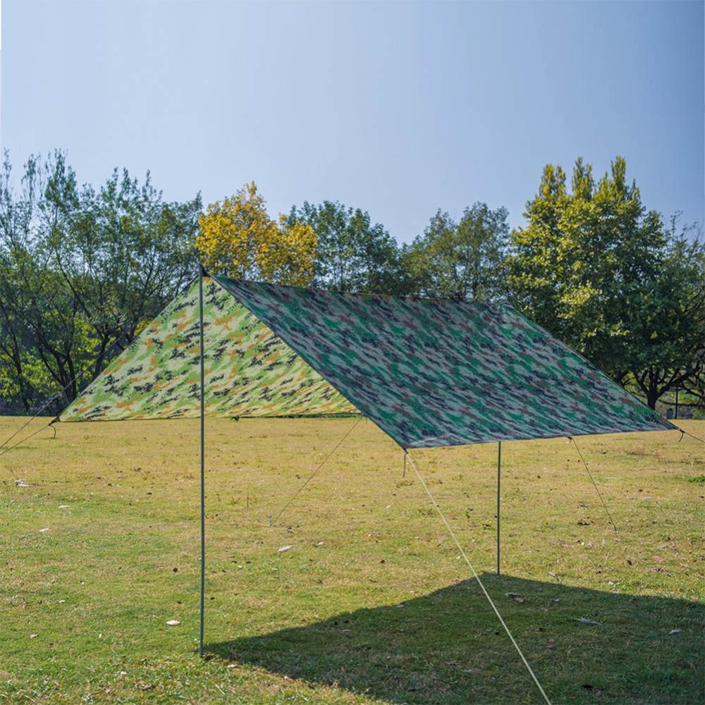 5m x 4m Waterproof Tarp Reinforced Grid Tarpaulin Sheet Rain Sun Weather Shield