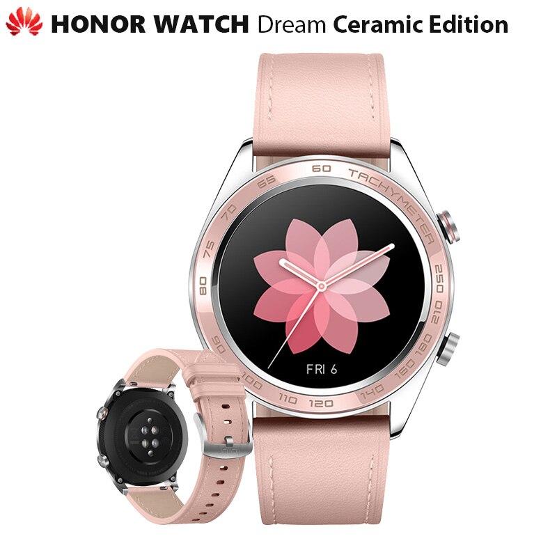 Original Huawei Honor Watch Dream Ceramic Ver Outdoor Smart Watch Sleek Slim Long Battery GPS Scientific Coach Amoled