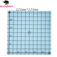 SUNPION printer parts Blue Simple 220x220mm Printed Hot Bed Surface Sticker Part with 1:1 Coordinate for 3D Printer High Quality